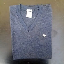 Abercrombie & Fitch Mens V Neck T-Shirt Navy Small New with Tag #1002