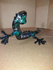 New listing Gorgeous Bronze Lizard Gecko Figurine Statue Sculpture Reptile Art Signed