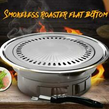 Iron Indoor/Outdoor Smokeless BBQ Barbecue Grill Non Stick Gas Stove Pan Plate