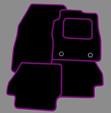 PEUGEOT 107 TAILORED BLACK CAR MATS WITH PURPLE TRIM