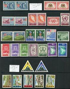 Weeda Malaya/Malaysia MH/NH collection of 1957 to 1966 issues CV $27.70