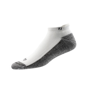 FJ FootJoy PRODRY Roll Tab Men's Golf Socks 2 Pair Pack NEW White 16846