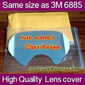 1000pcs SJL 6885 protective film Same 3M 6885 LENS COVER for 6800 Respirator