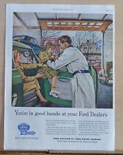 1953  magazine ad for Ford  - You're in Good Hands at Your Ford Dealer, colorful