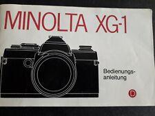 Minolta XG-1 bedienungs-anleitung