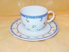 V&B VILLEROY & BOCH - ADELINE - Kaffeetasse Tasse + Teller UT d=15cm  MEHR