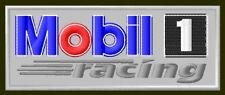 "MOBIL1 RACING EMBROIDERED PATCH ~3-7/8"" x 1-1/2"" BORDADO PARCHE AUFNÄHER OIL GR"