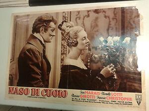FOTOBUSTA CINEMA NASO DI CUOIO JEAN MARAIS MARIELLA LOTTI MASSIMO GIROTTI 1952