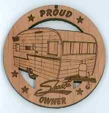 Shasta Travel Trailer Wood Ornament Engraved