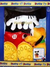 """New Disney Duffy Bear 17"""" Mickey Mouse Costume Outfit with Pluto Plush Box Set"""