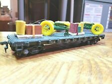 G2 HO TRAIN BOX Car VINTAGE L&N FLAT WITH TRACTORS AND LOADS 20001