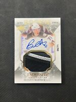 2016-17 UPPER DECK EXQUISITE BRANDON MONTOUR TRUE ROOKIE AUTO PATCH #ed 6/71