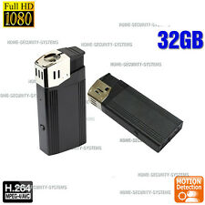 Lighter Camera 32GB Room Security Home Mini Micro Recorder 1080P no Spy Hidden