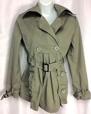 Jacket M Deconstructed Double Breasted Belt with Buckle Trench My Heart S E