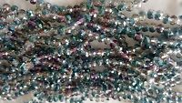 Joblot of 10 strings Rainbow 2 tone 6mm round shape Crystal beads new wholesale