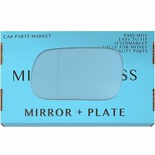 Left side Blue Wide Angle Wing mirror glass for Subaru Forester 1997-05 + plate