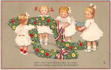 BG14588 girlanden winden freud und  gluck dir kunden children greetings  germany