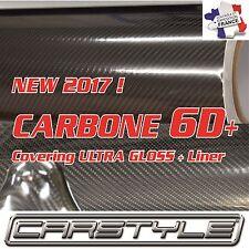NEW 2017 ! CARBONE 6D+ film vinyle Rouleau 152x300cm covering Bubble Free NOIR