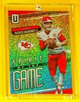 Unparallelled Spirit of the Game Patrick Mahomes Spectacular Rainbow Refractor
