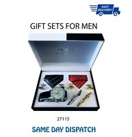 KEY TO THE DOOR Silver Chain Style 21st Birthday Boy CUFFLINKS Present Gift Box