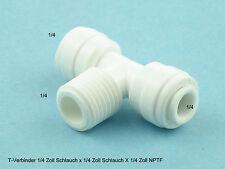 Einschraub T-Verbinder Schnellverbindung  Osmose 1/4 Zoll x 1/4 Zoll x 1/4 Zoll