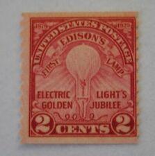US scott #656 1929 Edison's 1st lamp, unused.