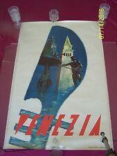 """Orig. Vintage Travel Poster """" Venezia """" Italia 1930 Venice Classic Mediterranean"""