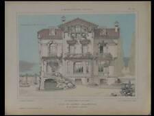 LE CANNET, VILLA -1921- PLANCHES ARCHITECTURE- STOECKLIN, VINCENNES, WILLAEY