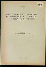 TAPPI SEPARAZIONE MEDIANTE CROMATOGRAFIA RIPARTIZIONE GENOSTRICNINA 1950 CHIMICA