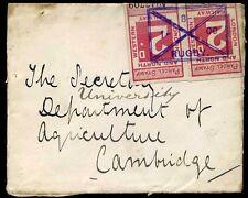 1908 de paquetería De Sellos Usados en lugar de Ferrocarriles Sello de carta rugby/cambridge