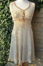 Mary Farrin  Cream Coloured Crocheted Dress 1960/70's Size M