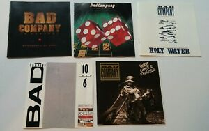 BAD COMPANY 5 CD LOT: Straight Shooter, Holy Water, 10 From 6, In Concert, more