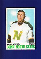 Gump Worsley HOF 1970-71 O-PEE-CHEE OPC Hockey #40 (EX+) Minnesota North Stars
