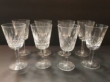 """8  WATERFORD LISMORE WHITE WINE GLASSES  5 1/2"""" New"""
