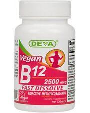 DEVA Vegan B12 90 Tabs Sublingual 2500 mcg EXP 4/2020