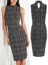 Ladies Womens QUIZ Black & Stone Glitter Tuttle Neck Party Evening Dress RRP £29