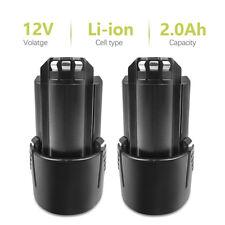 2PCS 12V Li-ion 2.0Ah Battery for Bosch 2607336014,2607336864,BAT411,D-70745 SK