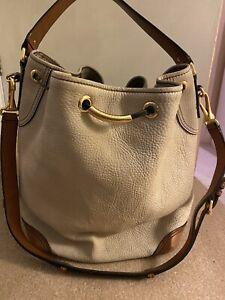 Vintage Burberry Large Leather Bucket Bag