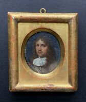 Fine 17th Century Dutch Old Master Portrait Miniature of Young Gentleman