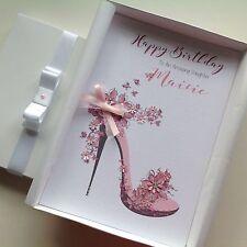 Personalised Handmade Birthday Card GIFT BOX Mum Grand Daughter 18 21 30 40 50