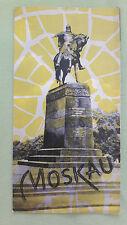 altes Reise Prospekt Intourist? Moskau, um 1970 (deutsch)