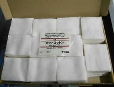 55 X MUJI Cotton Pads Pure Natural Unbleached Boxed