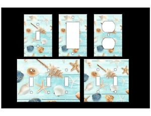 BEACH SEASHELLS #2 Light Switch Covers Beach Home Decor Outlet