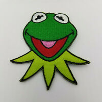 The Muppets Kermit head embroidered Patch 2 3/4 inches tall