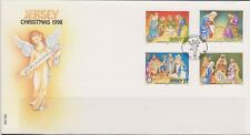 GB - JERSEY 1998 Christmas Nativity/Cribs SG 881-884 FDC NOEL WEIHNACHTEN XMAS