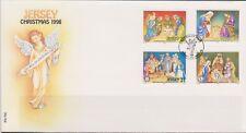 GB - JERSEY 1998 Christmas Nativity/Cribs SG 881-884 FDC NOEL WEIHNACHTEN XMAS