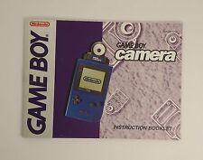 Game Boy Camera Instruction Booklet (Manual for Nintendo Gameboy Camera Only!)