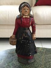 Antique Wilton Products Full Figure Amish Lady Cast Iron Doorstop Original Paint