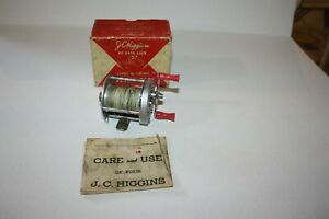 J.C. HIGGINS BAIT CASTING REEL - VINTAGE #3103 WITH BOX AND PAPERS