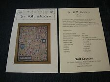 """1 NEW IN FULL BLOOM QUILT KIT 73"""" X 91"""" BY SANDY GERVAIS FOR MODA"""